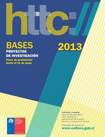 Bases Modalidad Proyectos de Investigación en Cultura