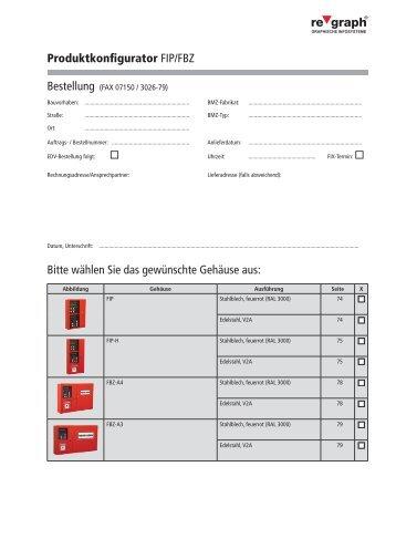 Produktkonfigurator FIP/FBZ Bitte wählen Sie das gewünschte ...