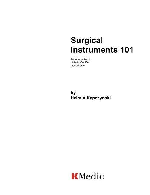 Kmedic Instrument Hand Book pdf - World Medical Equipment