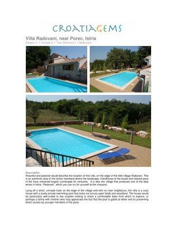 Villa Radovani, near Porec, Istria - CroatiaGems