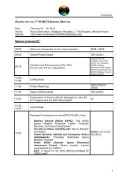 17/02/2012 1 AGENDA FOR THE 1ST AFFECTS