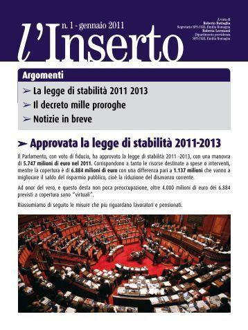 inserto 1/2011 - CGIL Modena