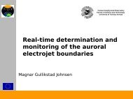 Real-time determination and monitoring of the auroral ... - AFFECTS