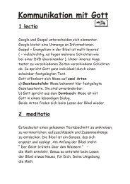 Kommunikation mit Gott - Seminar-r.de