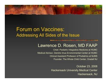 Presentation 5-VaccineForum-DrRosen - The Deirdre Imus ...