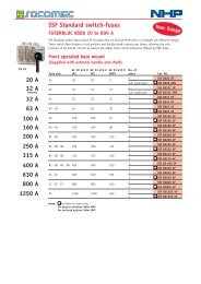 SSF Standard switch-fuses - NHP