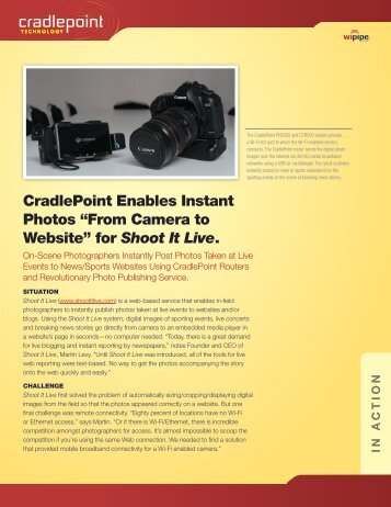 for Shoot It Live. - CradlePoint