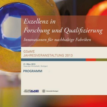 Programm - GSaME - Universität Stuttgart