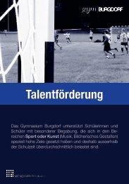 Flyer Talentförderung - Gymnasium Burgdorf