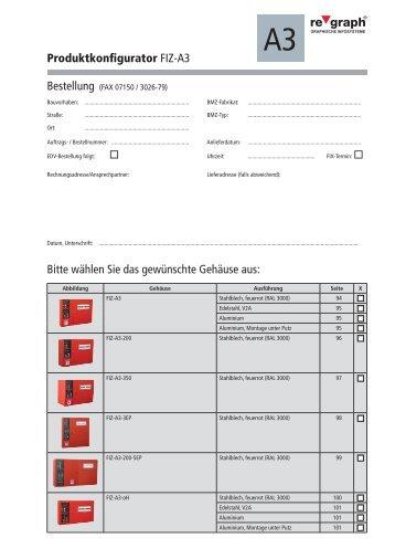 Produktkonfigurator FIZ-A3 Bitte wählen Sie das gewünschte ...