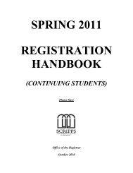 SPRING 2005 - Scripps College