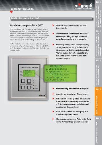 Produktinformation Parallel-Anzeigetableau (PAT) - regraph GmbH