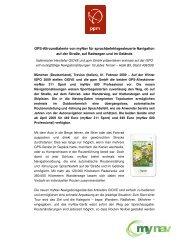 GPS-Allroundtalente von myNav für ... - ppm GmbH