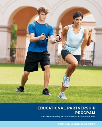ACE Educational Partnership Program - American Council on Exercise