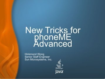 New Tricks for phoneME Advanced - download - Java