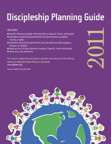 2011 Discipleship Planning Guide - American Baptist Home Mission ...