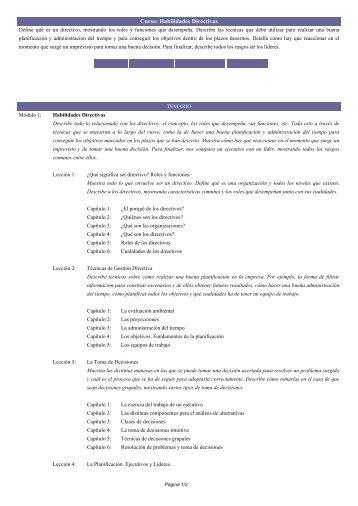 Curso: Habilidades Directivas - IcaFormacion.Com