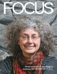 Artist and teacher Jane Baigent explores the ... - Focus Magazine