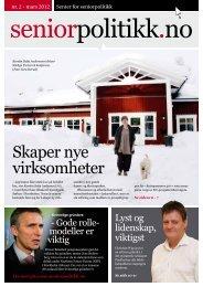 Skaper nye virksomheter - Senter for seniorpolitikk