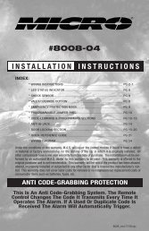 #8008-04 INSTALLATION INSTRUCTIONS - Micro Alarms