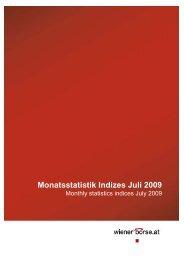 Monatsstatistik Indizes Juli 2009 - Indices.cc