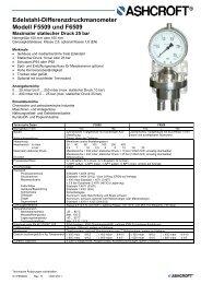 Datenblatt F5509/F6509 - Ashcroft Instruments GmbH