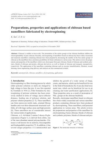 alginate properties and biomedical applications Free online library: the morphology and mechanical properites of sodium alginate based electrospun poly(ethylene oxide) nanofibers(technical report) by.