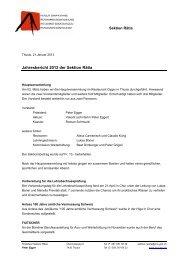 Jahresbericht 2012 der Sektion Rätia - Fachleute Geomatik Schweiz