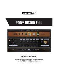 Line 6 POD® HD300 Edit Pilot's Guide (Rev C, v.103) - Musifex