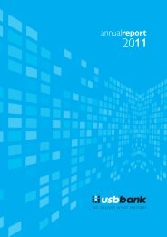 Annual Report 2011 - USB Bank
