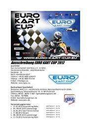 Reglement 2012 - Euro Kart Cup