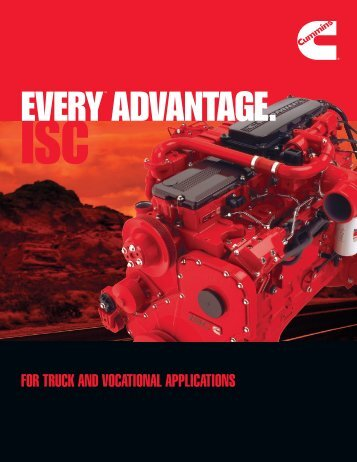 FOR TRUCK AND VOCATIONAL APPLICATIONS - Cummins Engines