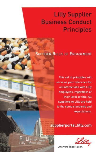 Business Conduct Principles - Supplier Portal - Eli Lilly