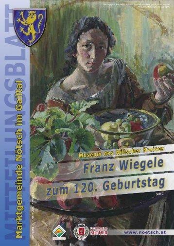 Franz Wiegele zum 120. GeburtstagSeite 2 - Marktgemeinde Nötsch