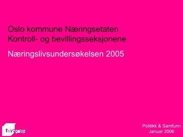 Oslo kommune Næringsetaten Kontroll- og bevillingsseksjonene ...