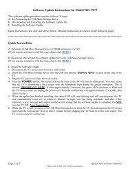Instructions for Software Upgrade - Mitsubishi