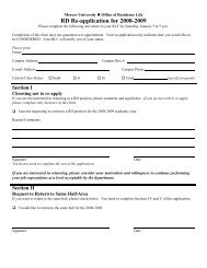 RD Re-application for 2008-2009 - Mercer University