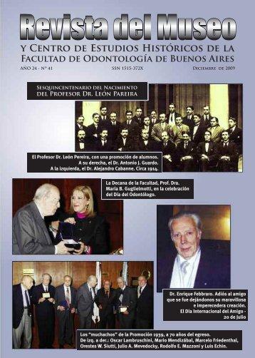 Revista del Museo Nº 41 - Facultad de Odontología - Universidad de ...
