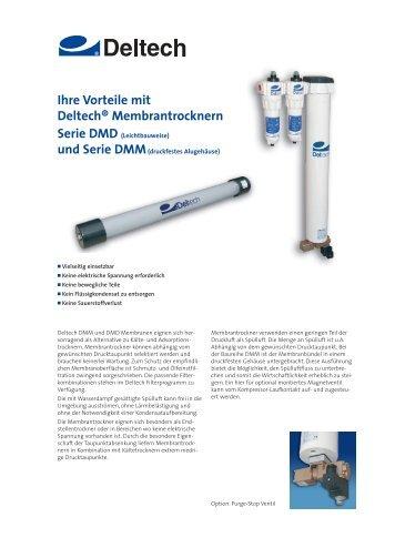Ihre Vorteile mit Deltech® Membrantrocknern Serie DMD