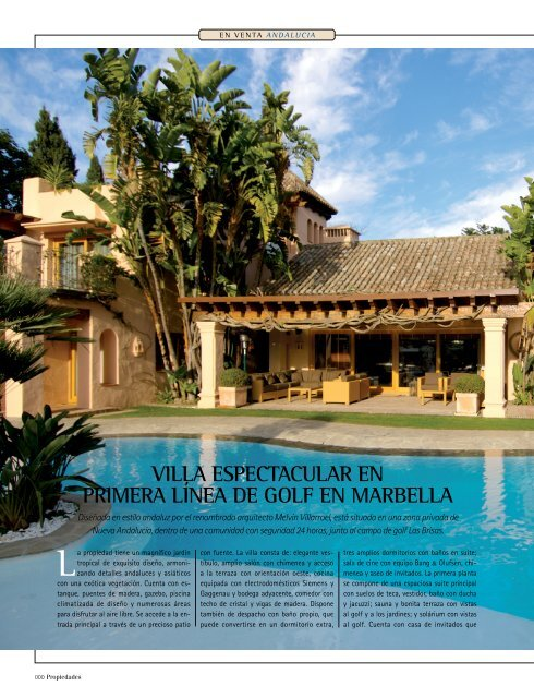06037 Villa Espectacular En Primera Lãnea De Golf En