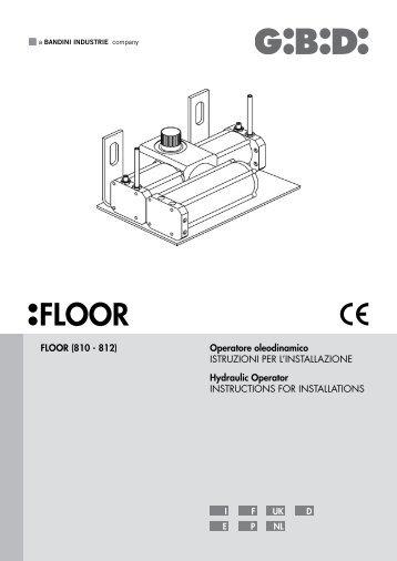 FLOOR (810 - 812) Operatore oleodinamico ISTRUZIONI ... - GiBiDi