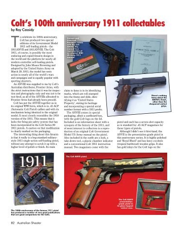 Colt's 100th anniversary 1911 collectables - Frontier Arms