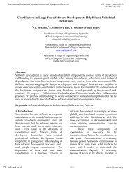 Coordination in Large-Scale Software Development: Helpful ... - ijcsmr