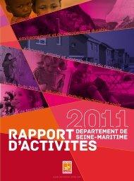 RAPPORT D'ACTIVITES - Département de Seine-Maritime