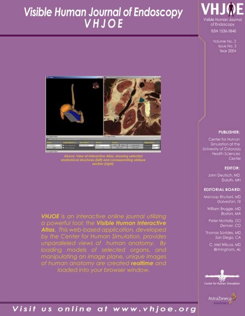 Download this issue in PDF format - Visible Human Journal of