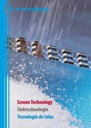 Screen Technology Siebtechnologie Tecnología de telas