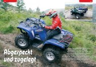 yamaha grizzly 550 eps | test