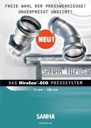 DAS NiroSan®-ECO PRESSSYSTEM FREIE WAHL DER ...