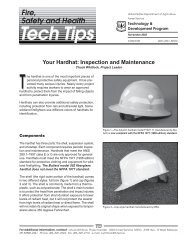 Your Hardhat: Inspection and Maintenance - USDA Forest Service