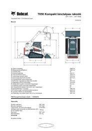 T650 Kompakt lánctalpas rakodó - DM-Ker Kft
